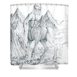 Pholus The Centauras Shower Curtain by Curtiss Shaffer
