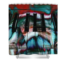 Piano Colors Shower Curtain by Linda Sannuti