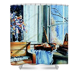 Piano In The Sun Shower Curtain by Hanne Lore Koehler
