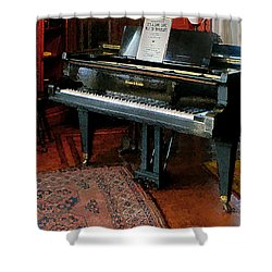 Piano With Sheet Music Shower Curtain by Susan Savad