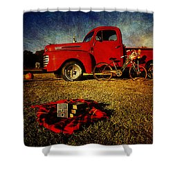 Picnic Time 2 Shower Curtain by Toni Hopper