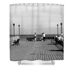 Pier End View At Skegness Shower Curtain by Rod Johnson