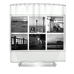 Pier Moods Shower Curtain by Hazy Apple
