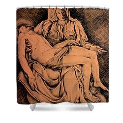 Pieta Study Shower Curtain by Hanne Lore Koehler