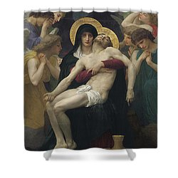 Pieta Shower Curtain by William Adolphe Bouguereau