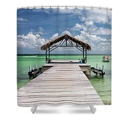 Pigeon Point, Tobago#pigeonpoint Shower Curtain by John Edwards