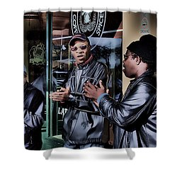 Pike Place Trio Shower Curtain by David Patterson