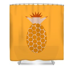 Shower Curtain featuring the painting Pineapple by Frank Tschakert