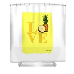 Pineapple Shower Curtain by Mark Rogan