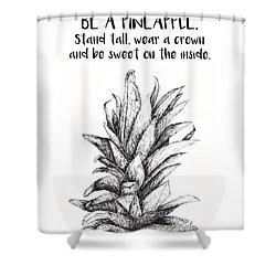 Pineapple Shower Curtain by Nancy Ingersoll