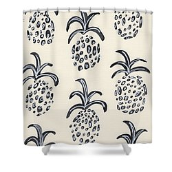 Pineapple Print Shower Curtain by Anne Seay