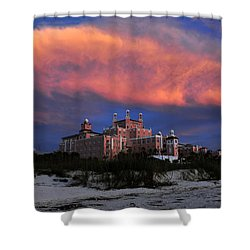 Pink Cloud Shower Curtain by David Lee Thompson