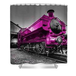 Pink Pannier  Shower Curtain by Rob Hawkins