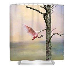 Pink Wonder Shower Curtain by Bonnie Barry