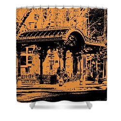 Pioneer Square Pergola Shower Curtain by Tim Allen
