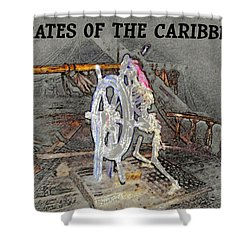 Pirates Skeleton Shower Curtain by David Lee Thompson