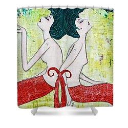 Pisces Mermaids Shower Curtain by Natalie Briney