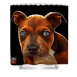 Pitbull Puppy Pop Art - 7085 Bb Shower Curtain by James Ahn