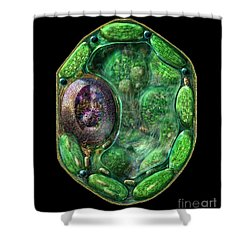 Plant Cell Shower Curtain by Russell Kightley