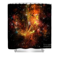 Plasma Drift Shower Curtain by Corey Ford