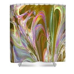 Plasma Flow Shower Curtain by Michael Durst