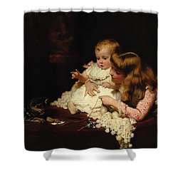 Playmates Shower Curtain by Arthur John Elsley