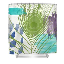 Plumage 4- Art By Linda Woods Shower Curtain by Linda Woods
