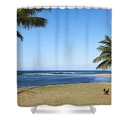 Poipu Beach Shower Curtain by Kelley King
