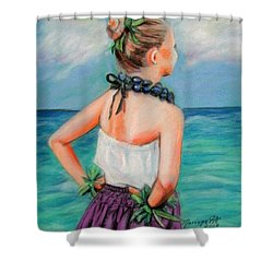 Poipu Hula Shower Curtain by Marionette Taboniar