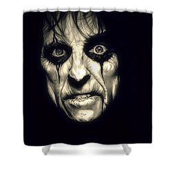 Poison Alice Cooper Shower Curtain by Fred Larucci