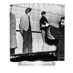 Police Lineup, 1953 Shower Curtain by Granger