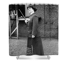 Policewoman, 1909 Shower Curtain by Granger