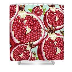 Pomegranate   Shower Curtain by Mark Ashkenazi