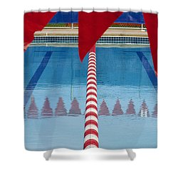 Pool Shower Curtain by Skip Hunt