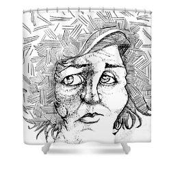 Portait Of A Woman Shower Curtain by Michelle Calkins