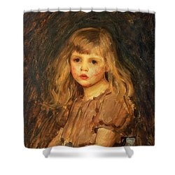 Portrait Of A Girl Shower Curtain by John William Waterhouse