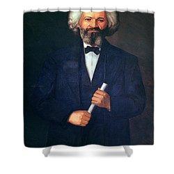 Portrait Of Frederick Douglass Shower Curtain by American School
