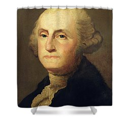 Portrait Of George Washington Shower Curtain by Gilbert Stuart