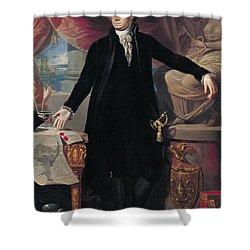 Portrait Of George Washington Shower Curtain by Joes Perovani