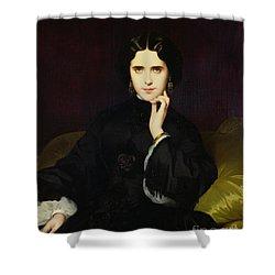 Portrait Of Jeanne De Tourbay Shower Curtain by Eugene Emmanuel Amaury-Duval
