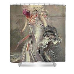 Portrait Of Marthe Regnier Shower Curtain by Giovanni Boldini