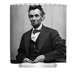 Portrait Of President Abraham Lincoln Shower Curtain by International  Images