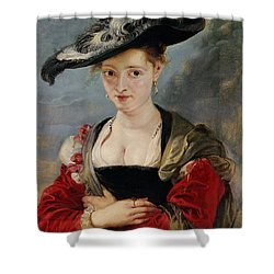 Portrait Of Susanna Lunden Shower Curtain by Peter Paul Rubens