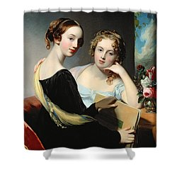 Portrait Of The Mceuen Sisters Shower Curtain by Thomas Sully