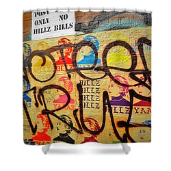 Post No Bills Hillary Clinton  Shower Curtain by Funkpix Photo Hunter