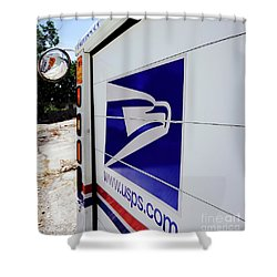 Post Office Truck Shower Curtain by Kenneth Lempert