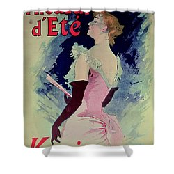 Poster Advertising Alcazar Dete Starring Kanjarowa  Shower Curtain by Jules Cheret