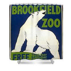 Poster For The Brookfield Zoo Shower Curtain by Unknown