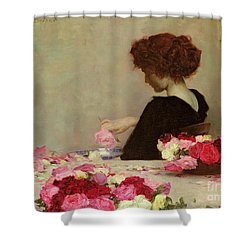 Pot Pourri Shower Curtain by Herbert James Draper