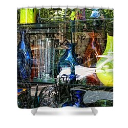 Potential Broken Glass Shower Curtain by Donna Blackhall
